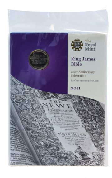 2011 £2 king James The Bible Brilliant Uncirculated pack